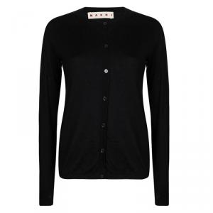 Marni Black Cashmere Long Sleeve Cardigan M