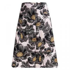 Marni Pink Floral Embossed Jacquard Skirt M