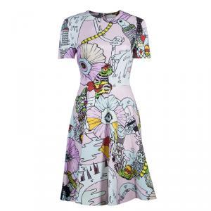 Mary Katrantzou Multicolor Graphic Print Dress M