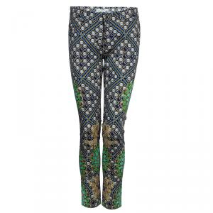 Mary Katranzou Pearl Printed Denim Pants S