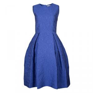 Mary Katrantzou Blue Textured Sleeveless Pocket Dress M