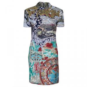Mary Katrantzou Multicolor Embellished Short Sleeve Dress M
