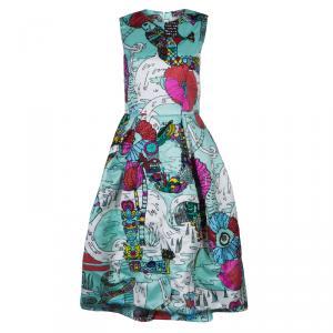 Mary Katrantzou Multicolor Print Embellished Sleeveless Astere Dress M