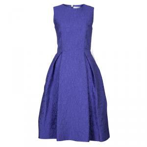 Mary Katrantzou Blue Embossed Sleeveless Dress M