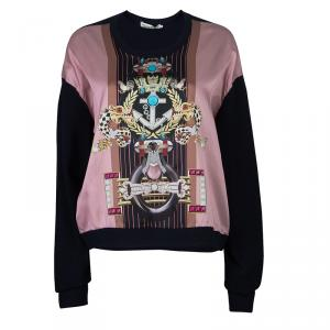 Mary Katrantzou Silk Printed Knipi Knit Jumper L