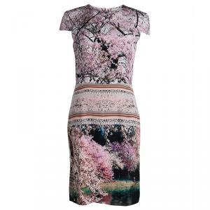Mary Katrantzou Multicolor Printed Silk Cap Sleeve Dress M