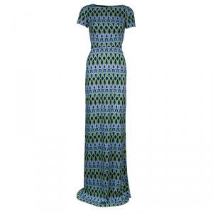 Matthew Williamson Abstract Printed Maxi Dress S