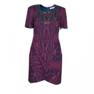 Matthew Williamson Pink Printed Embellished Dress M