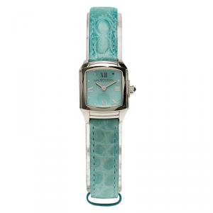 Mauboussin Blue Mother of Pearl Stainless Steel Classic Women's Wristwatch