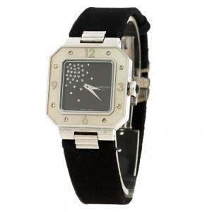 ساعة يد نسائية موبوسين 9112111 ستانلس ستيل سوداء 28 مم
