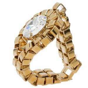 Mawi Crystal Diamond Gold Tone Bracelet