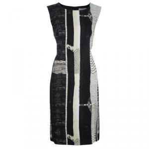 Max Mara Monochrome Print Shift Dress L