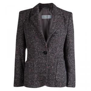 Max Mara Multicolor Textured Wool Blazer S
