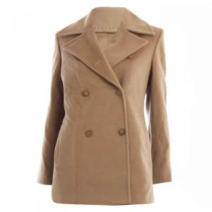 Max Mara Camel Brown Wool Blazer S
