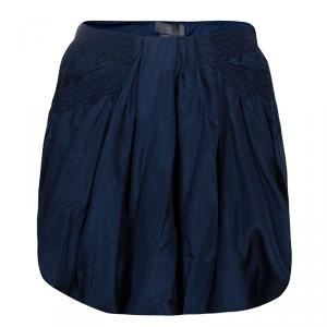 McQ by Alexander McQueen Blue Bubble Skirt S