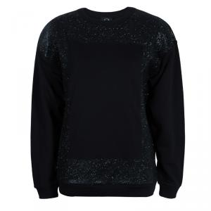 McQ  by Alexander McQueen Black Embellished Sweat Shirt M