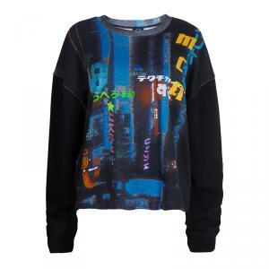 McQ by Alexander McQueen Black Printed Hazy Night Sweatshirt  XL