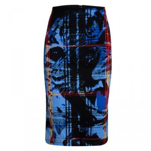 McQ By Alexander McQueen Multicolor Printed Knit Tube Skirt XL
