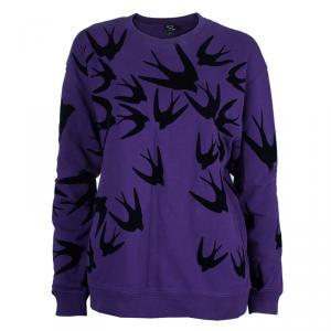 McQ By Alexander McQueen Purple Swallow Sweater M