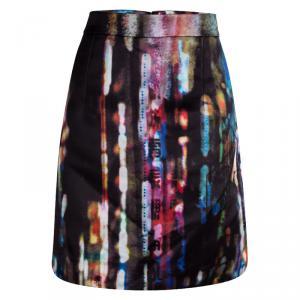 McQ By Alexander McQueen Multicolor Blurry Lights Print Skirt L