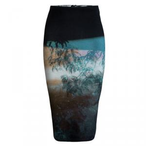 McQ By Alexander McQueen Multicolor Printed Knit Tube Skirt XS