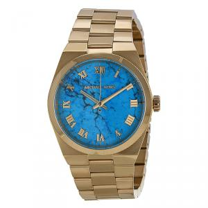 Michael Kors Blue Gold-Plated Stainless Steel Channing MK5894 Women's Wristwatch 38MM