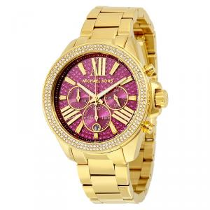 Michael Kors Purple Gold-Plated Stainless Steel Wren MK6290 Women's Wristwatch 42MM