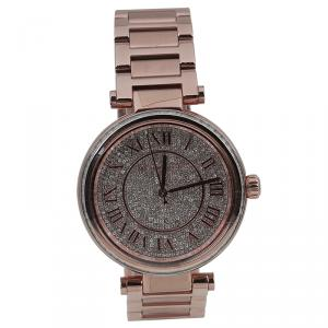 Michael Kors Crystal Rose Gold-Plated Stainless Steel Camille MK5868 Women's Wristwatch 40MM