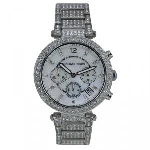 Michael Kors Silver Stainless Steel Crystal Parker MK5572 Women's Wristwatch 39MM