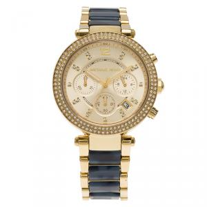 Michael Kors Champagne Gold-Plated Stainless Steel MK6238 Women's Wristwatch 39MM