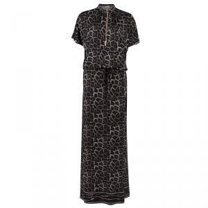 Michael Kors Leopard Print Jersey Maxi Dress