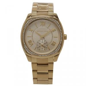 Michael Kors Gold Stainless Steel Diamond Bryn Women's Wristwatch 38MM