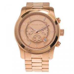 Michael Kors Rose Gold-Plated Stainless Steel Runway Women's Wristwatch 38MM