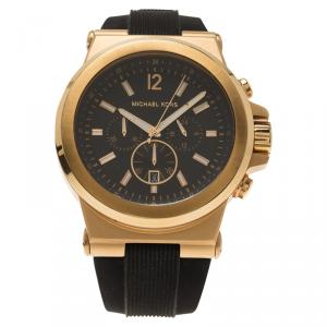 Michael Kors Brown Gold-Plated Stainless Steel Dylan MK8184 Men's Wristwatch 45MM