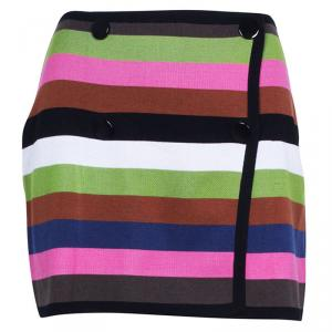 Missoni Multicolor Striped Knit Mini Skirt S