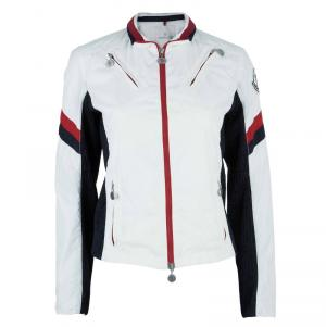 Moncler Off-white Zip Front Nylon Jacket S