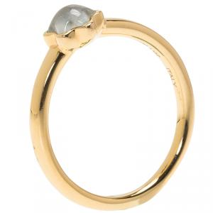 Montblanc Cabochon De Montblanc Milky Quartz Rose Gold Ring 56