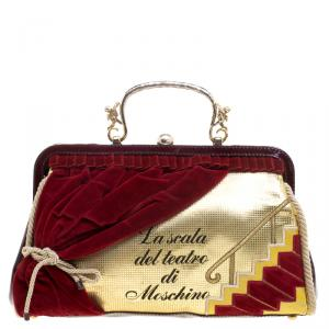 Moschino Multicolor Patent Leather/Leather and Velvet Lascala Del Teatro Di Moschino Bag