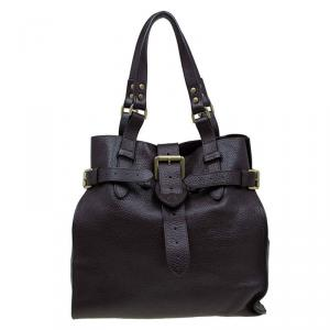 Mulberry Choco Brown Leather Elgin Tote