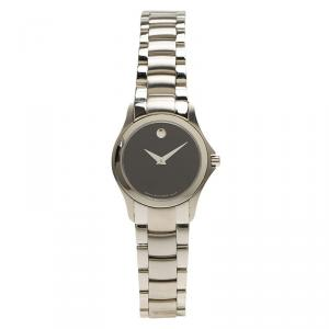 Movado Black Stainless Steel Museum 84 E4 1849 Women's Wristwatch 28MM