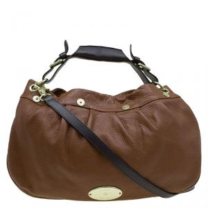 Mulberry Chocolate Brown Pebbled Leather Mitzy Hobo