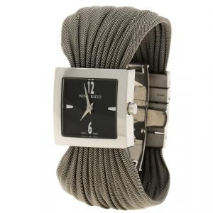 Nina Ricci Black Silver Stainless Women's N019.12 Quartz Watch 24mm