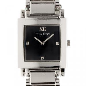 Nina Ricci Black Stainless Steel Nina Women's Wristwatch 25MM