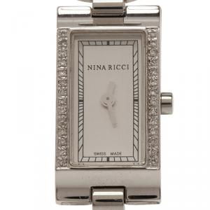 Nina Ricci Silver Stainless Steel Women's Wristwatch 16MM