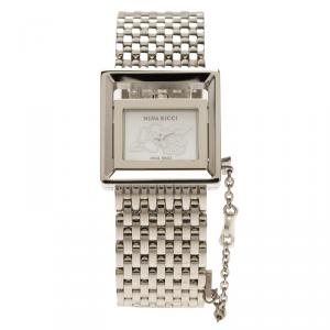 Nina Ricci Silver Stainless Steel N022 Women's Wristwatch 22MM