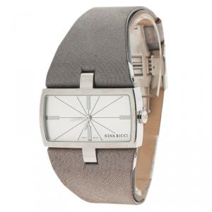 Nina Ricci Silver Stainless Steel N027.12 Women's Wristwatch 37MM