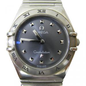 Omega Blue Mother of Pearl Stainless Steel Constellation My Choice Women's Wristwatch 24MM