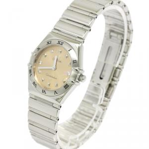 Omega Pink Stainless Steel Constellation Women's Wristwatch 25MM