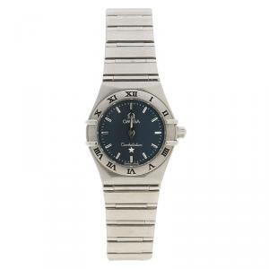 Omega Grey Stainless Steel Constellation Women's Wristwatch 23MM