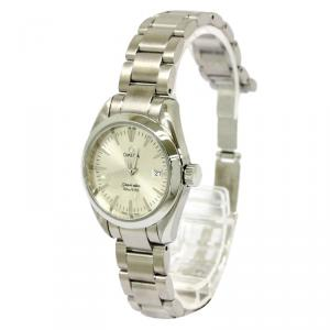 Omega Silver Stainless Steel Seamaster Aqua Terra Women's Wristwatch 29MM